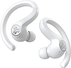 JLab Audio JBuds Air Sport True Wireless Bluetooth Earbuds + Charging Case - White - IP66 Sweat Resistance - Class 1 Bluetooth 5.0 Connection - 3 EQ Sound Settings JLab Signature, Balanced, Bass Boost