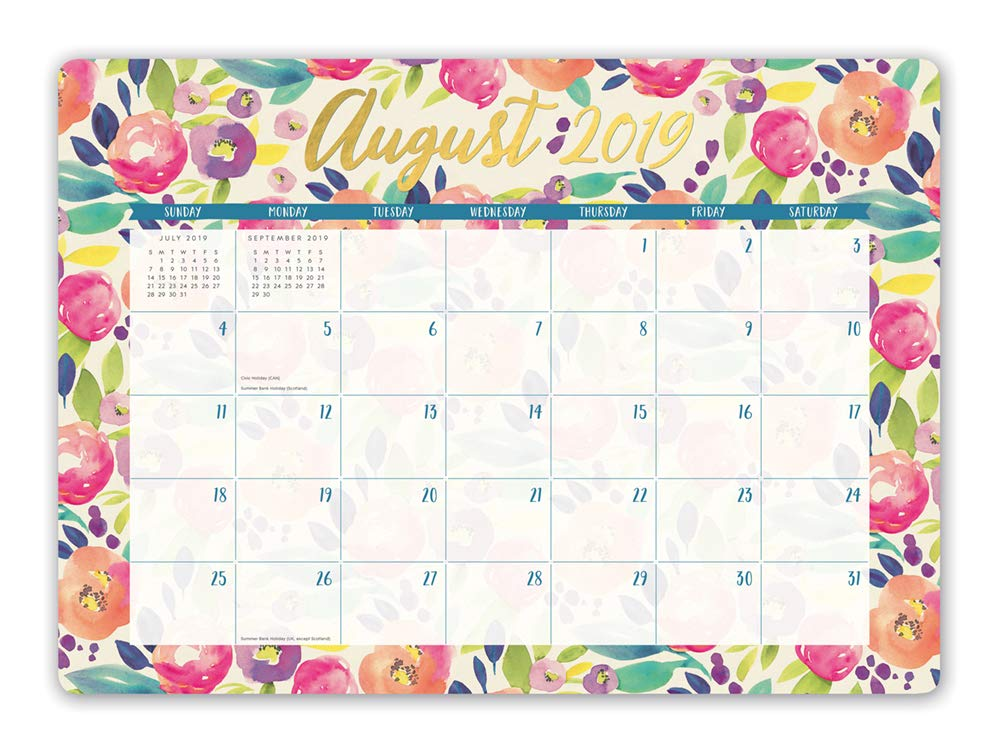 Tv Premiere Calendar December 2020 Orange Circle Studio 2020 Decorative Desk Blotter Calendar, August