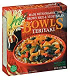 Amy's Teriyaki Bowl, Low-Fat, Organic, 9.5-Ounce Boxes (Pack of 12)
