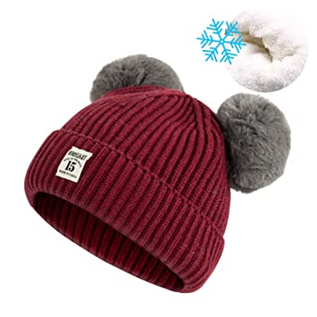 943ae76d923 Amazon.com  Winter Knit Hat for Baby Boys Girls