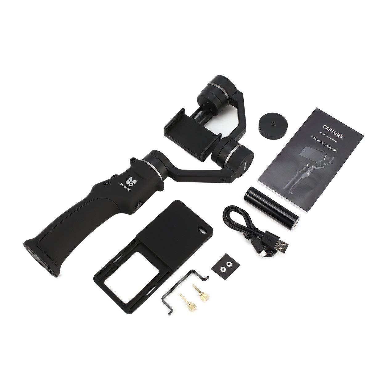 Qewmsg Funsnap Capture Selfie Smartphone Brushless Stabilisator Handheld 3-Achsen-Gimbal mit Clip-Adapter für GOPRO / YI / Sargo Cam Phone