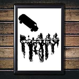 """Original Art Inspired by STRANGER THINGS - Gloss Poster Print (12"""" x 16"""" (Framed))"""