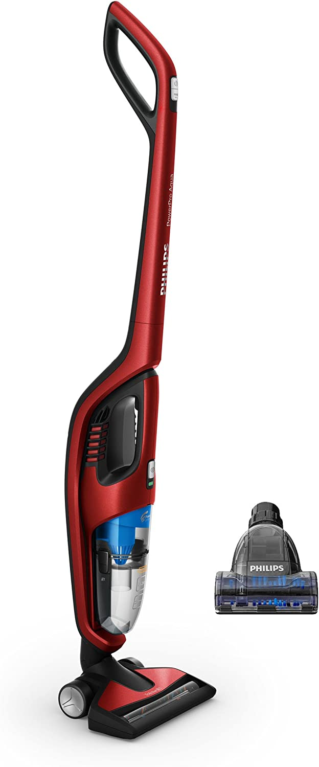 Philips Aspirador Vertical 2 en 1 con PowerCyclone FC6172/01, 0.6 litros, 83 Decibelios, Rojo: Philips: Amazon.es: Hogar