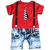 Le SSara BambinoragazzomanicacortasignoripagliaccettoBody (6-12 mesi, rosso)