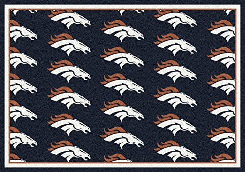 Denver Broncos NFL Team Repeat Area Rug by Milliken, 3'10