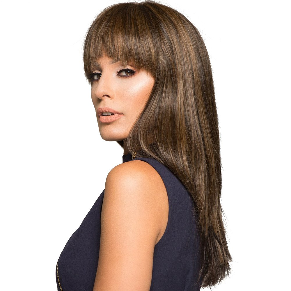 Amazon.com   HAIRCUBE Wigs with Bangs Long Natural Curly Wigs for Women  Human Hair Wigs   Beauty 8dd996750