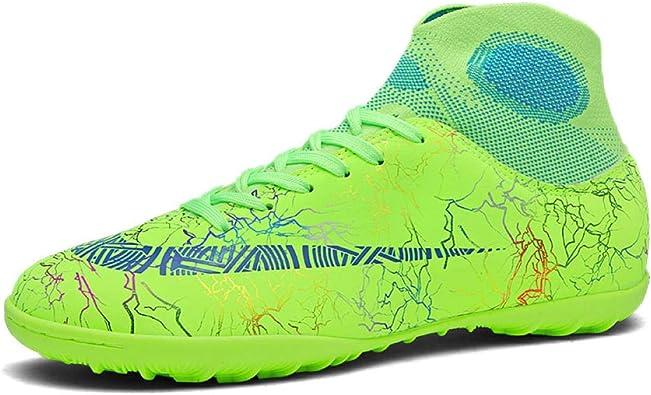 Zapatos de fútbol Botas de fútbol de caña Alta para Hombre Zapatillas de Entrenamiento de fútbol Antideslizantes para Hombre Verde_37: Amazon.es: Zapatos y complementos