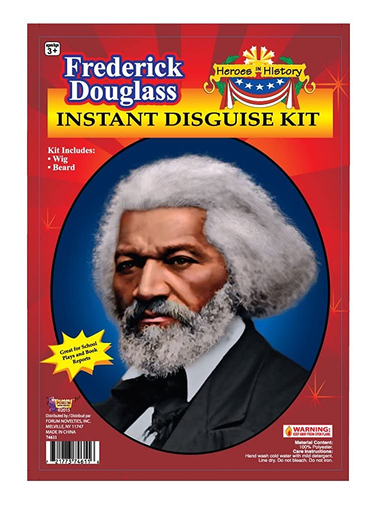 Forum Novelties Men's Heroes in History Frederick Douglass Instant Disguise Kit Multi One Size Forum Novelties Costumes 74611