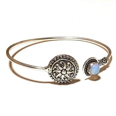Girls Jewelry Brown Tiger Eye Sterling Silver Overlay 15 Grams Bracelet 7-9 Long