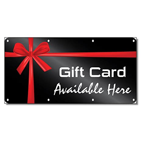 Amazoncom Gift Card Available Here Business Oz Vinyl Banner - Vinyl banners with grommets