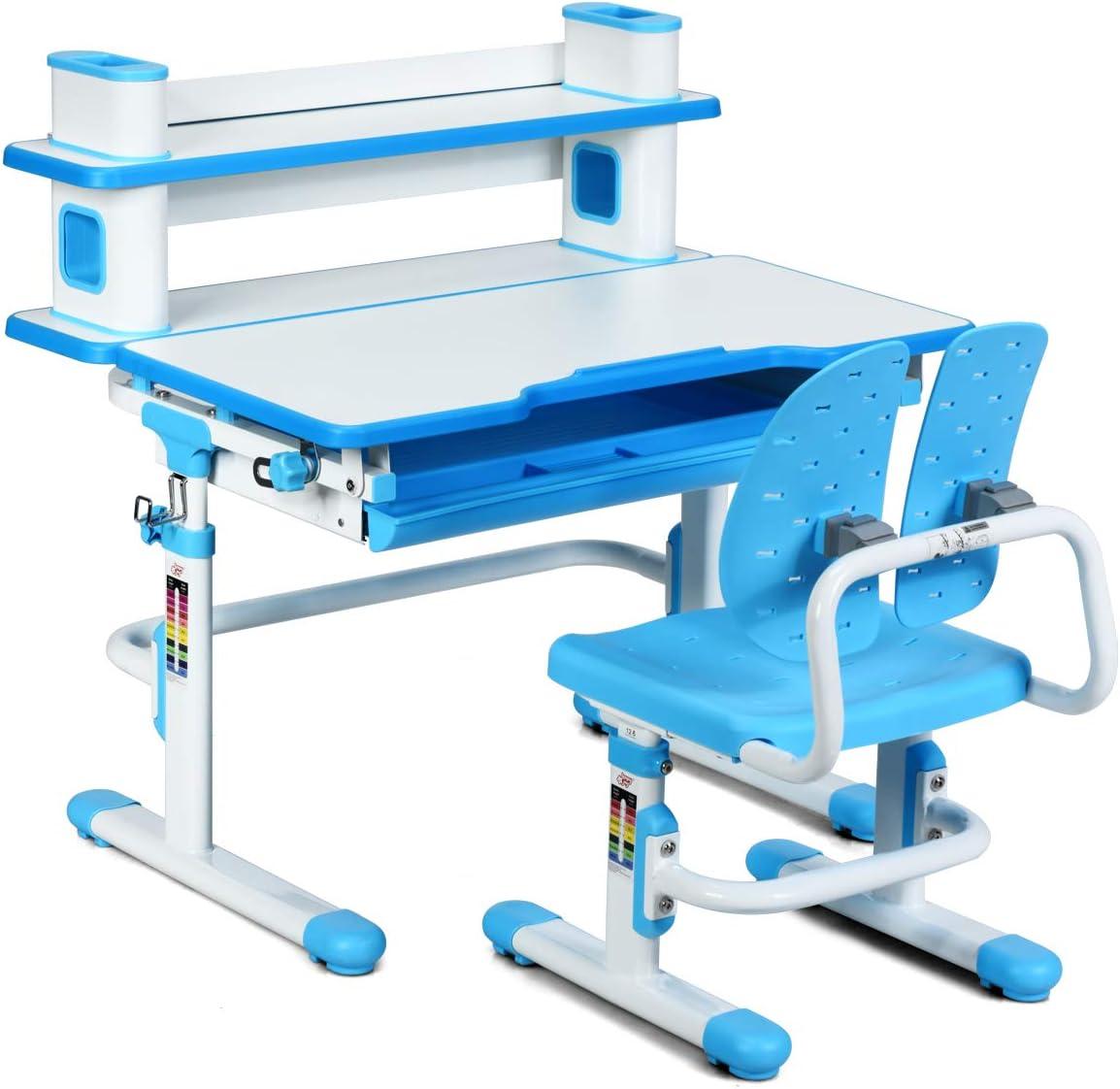 Amazon.com: HONEY JOY Kids Desk and Chair Set, Height ...