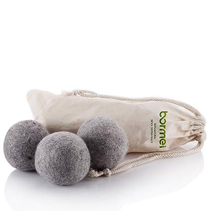 Secador de bolas de lana de oveja, Premium reutilizable Natural suavizante, 100% puro