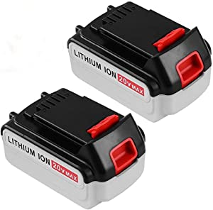5.0Ah Lithium Ion Replacement for Black and Decker 20V MAX Battery LBXR20 LB20 LBX20 LBXR2020-OPE LBXR20B-2 LB2X4020-2 Packs