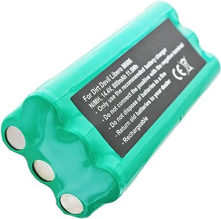 AccuCell - Batería compatible con batería Dirt Devil Libero M606 ...
