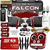 DJI Phantom 4 Advanced Falcon Edition Kit w/ Firebridge Long Range System, Nanuk 950 Wheeled Case, 3 Batteries, Thor Charger, Carbon Fiber Props & Guards, Phantom4 Pro Lens Filters, 64GB Card