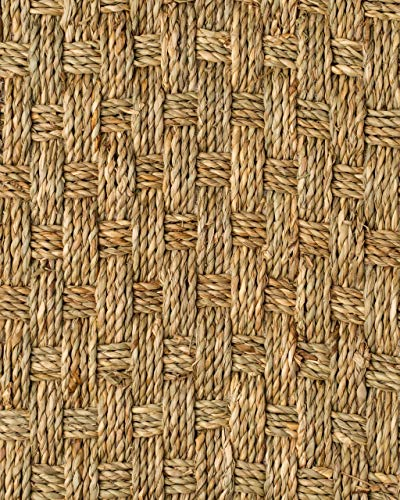 NaturalAreaRugs Basketweave Seagrass for Wall to Wall Carpet Installation - 100% Seagrass with Latex/Cotton Backing - 13'ft Wide Custom Lengths Priced by The Foot - up to aprox. 98'ft