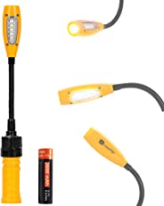 Cordless Work Light, LED Flashlight Rechargeable by USB| Magnetic Base, Gooseneck, Mini Torch Look| Battery Powered Flood Lig