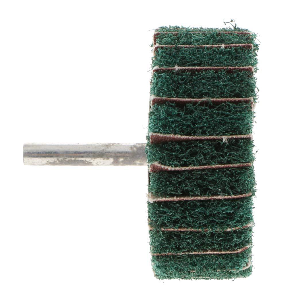 f/ür Edelstahl//Aluminium//Kupfer 60 x 25 x 6 mm mit K/örnung gr/ün Homyl Schleifrad f/ür F/ächerschleifer Lamellenschleifer mit 6mm Schaft