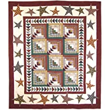 Rustic Stars and Geese, Lap Quilt 50 X 60 In.