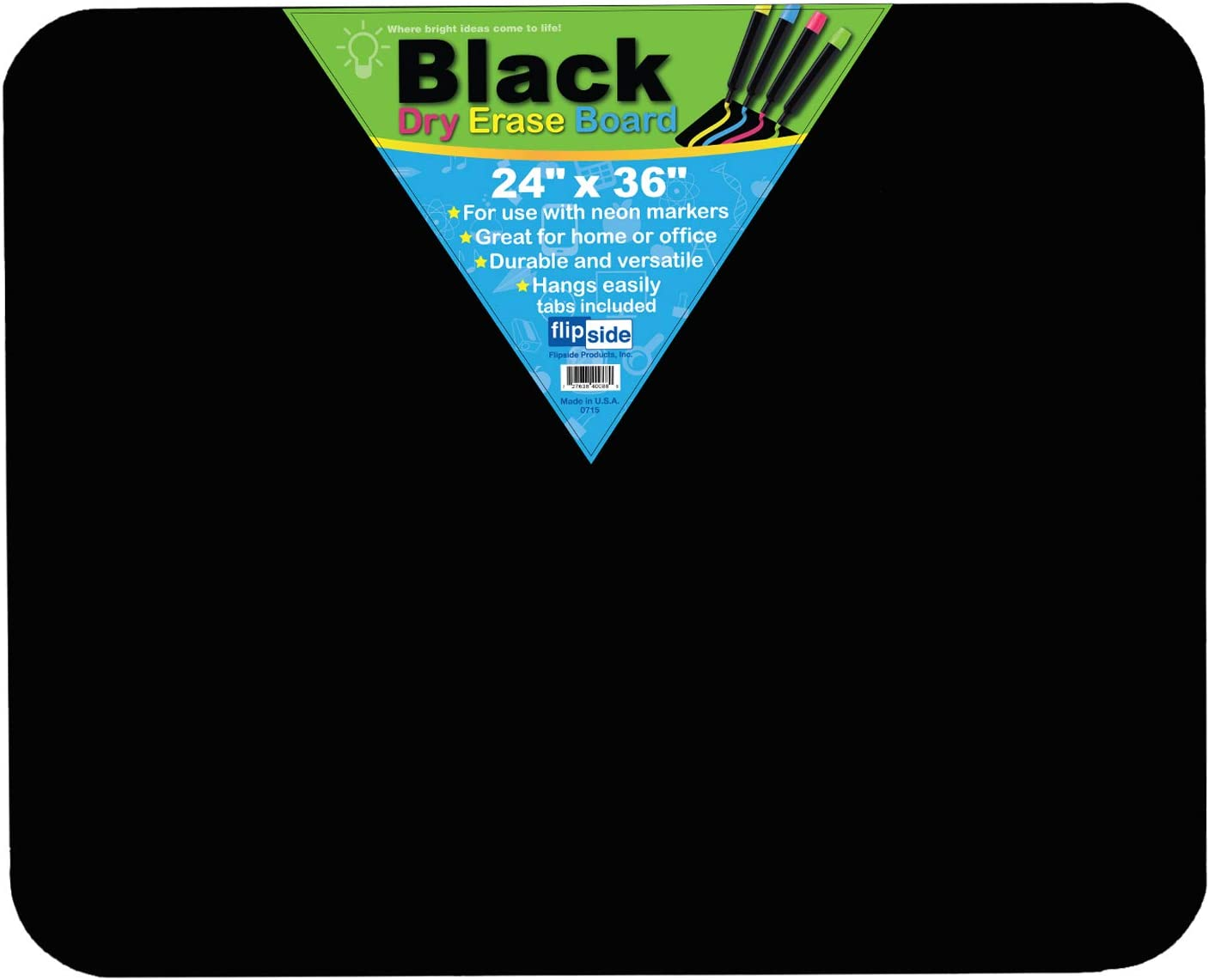 Flipside Black Dry Erase Board