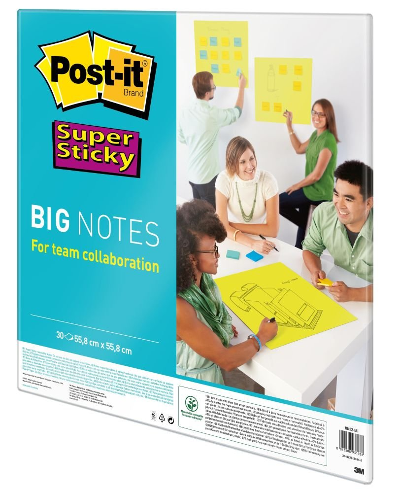 Post-it 55.8 x 55.8 cm Big Super Sticky Notes - Neon Green by Post-it (Image #2)