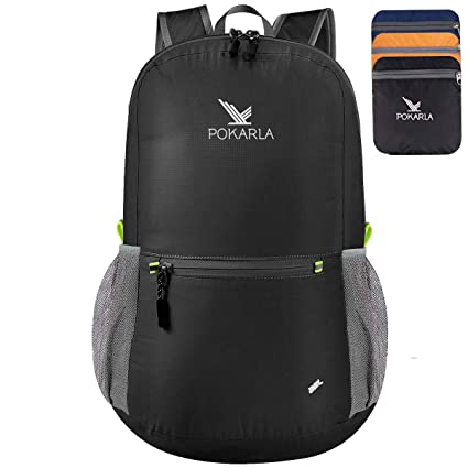03cc33991 POKARLA 22L Ultra Lightweight Packable Foldable Backpack Durable Water  Resistant Travel Hiking Camping Outdoor Daypack for