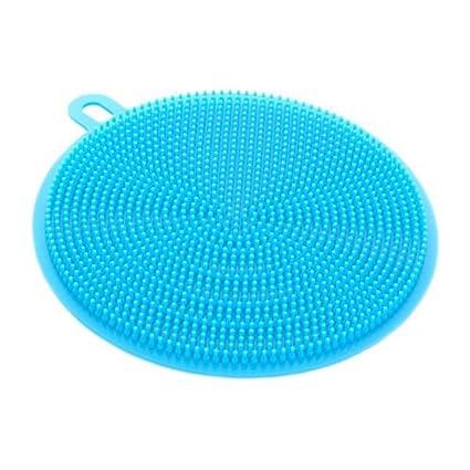 Samoy - Esponja de silicona para fregar platos y fregaderos, apto para cocinas, esponjas