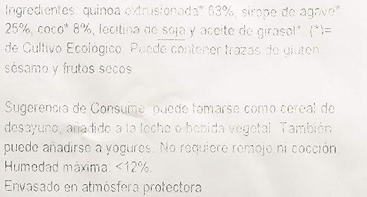 Ecocesta- Bolitas de quinoa con ágave y coco bio, 1 kg .: Amazon.es: Alimentación y bebidas