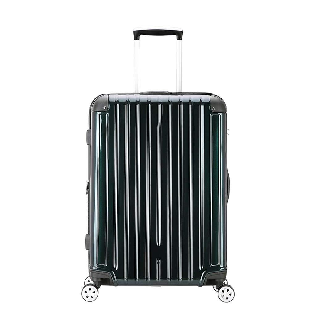 ZHAOSHUHLI スーツケース女性のスーツケースユニバーサルホイールパスワードボックス色の変更耐摩耗性物品ベアリング強い旅行トロリーケース (Color : Green, Size : 25 inches) B07QZJ2K89 Green 25 inches