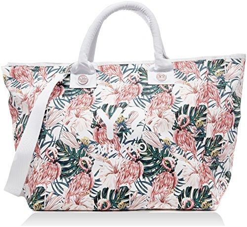 Da H Borsa multicolore Flamingos Cm 21x38x62 Bc002 w Multicolore Ynot X L Donna pe18 Spiaggia pc11ftW
