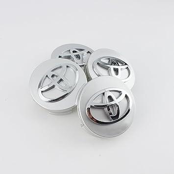 4 x 62 mm plata estilo aleación rueda centro tapacubos para Toyota
