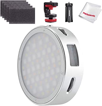 Magnetic Quick Installation CRI 98 TLCI 97 Accurate Color Godox R1 Round Full Color RGB Led Video Light 2500K-8500K Adjustable 14 FX Lighting Effects OLED Display with Creative Music Mode