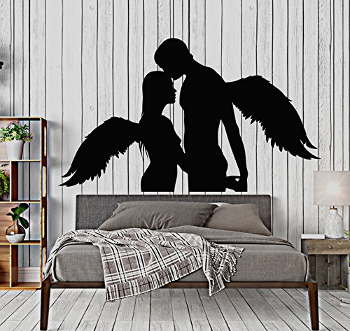 Vinyl Wall Decal Love Sex Naked Angels Decor Bedroom Stickers Large Decor (727ig) Black by DesignToRefine