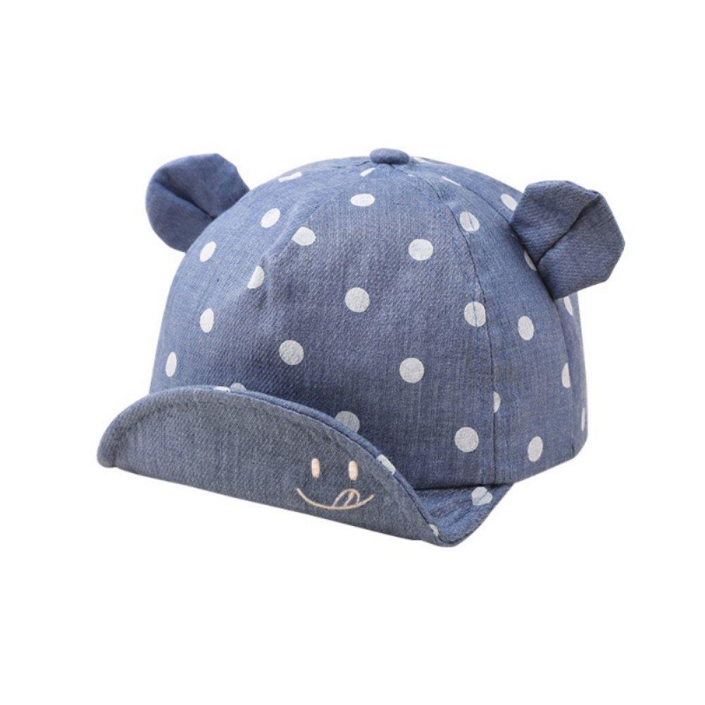 Minshao Baby Boy Girl Summer Cute Casual Striped Soft Eaves Baseball Sun Hat Cap for