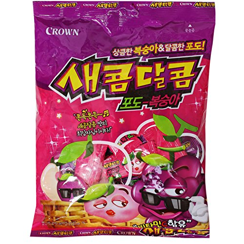 Korean Grape and Peach Flavored Chewy Sweet and Sour Candy 200g (1 Pack) (Best Sour Chewy Candy)