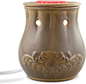 STAR MOON Pluggable Ceramic Fragrance Candle Warmer for Home/Dorm/Office No Flame No Smoke No Soot Packaged Together with Two Bulbs