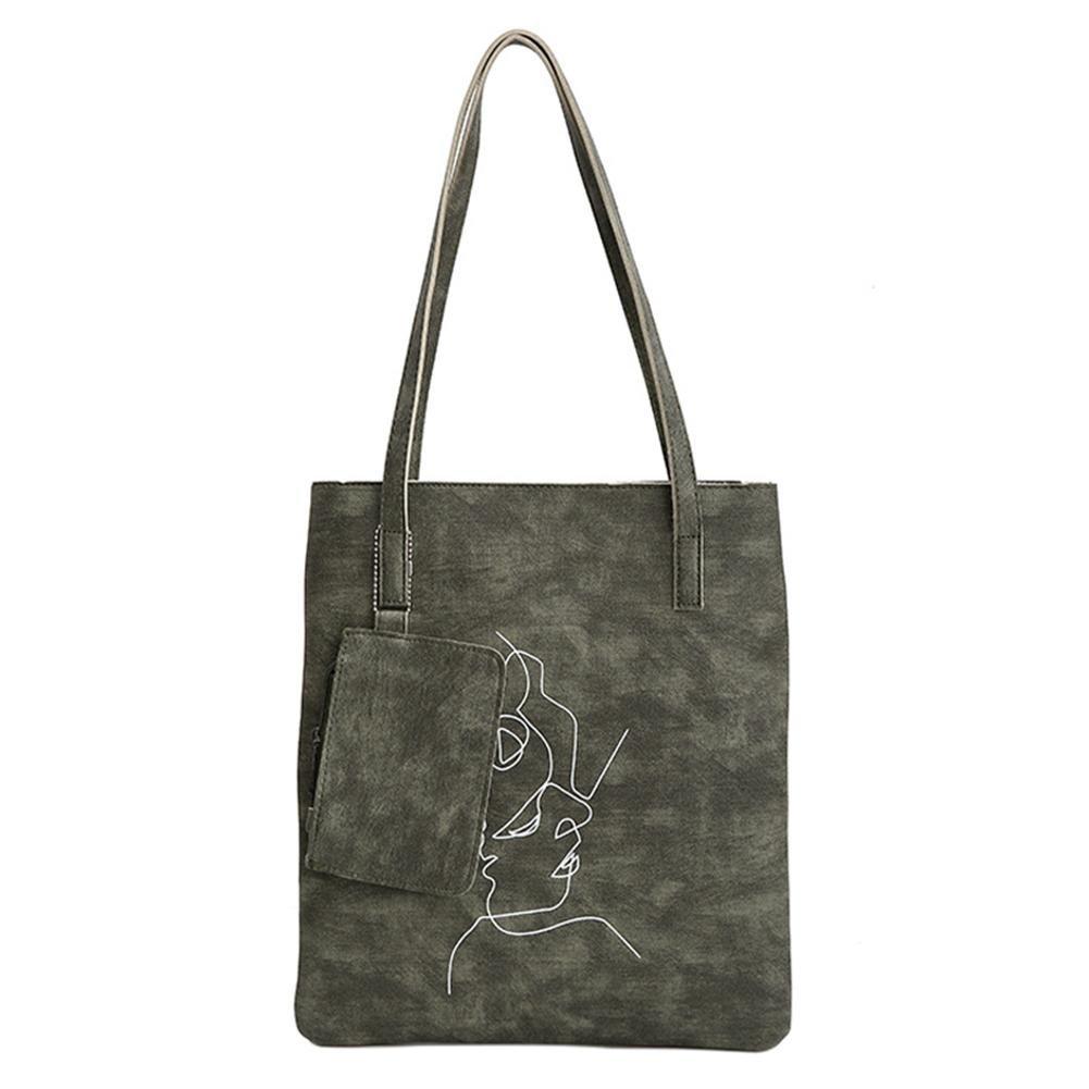 PU Leather Shopping single shoulder bag large capacity fur ball handbag shopping bag female bag not hanging tag