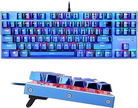 ZXGHS Teclado Mecánico De 88 Teclas, Teclado para Juegos RGB ...