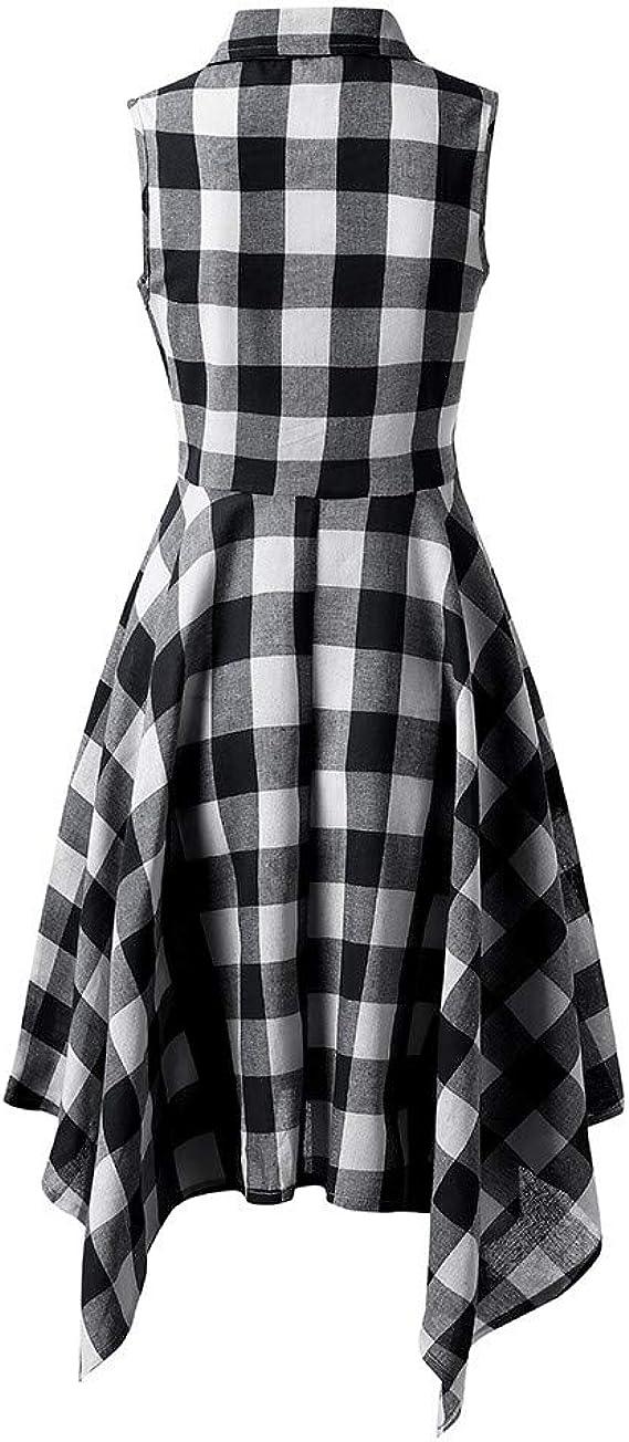 COZOCO Vestido de Las Señoras Vestido con Cuello ...