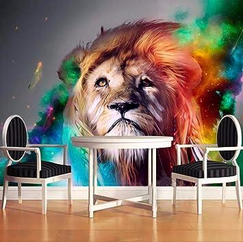 Yssyss 3D Realista Animal León Wallpaper Mural Salón Sofá Fondo ...