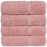 Superior Long-Stable Turkish Cotton 4-Piece Bath Towels, Eco-Friendly, (Pink)