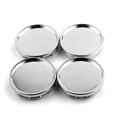 4pcs 58mm(2.28in)/53mm(2.09in) Wheel Center Caps Silver Base for #1GD601149 C5060K58 TAZ 321 Multi #493238 Wheel Rims Replace: Automotive