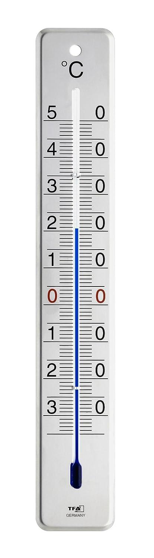 met/álico TFA 12.2046.60 Term/ómetro de Interior y Exterior