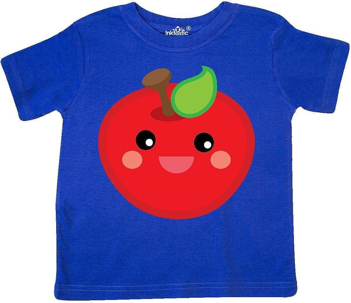 inktastic Smiling Apple Toddler T-Shirt