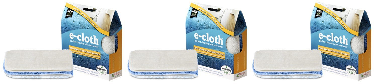 (3 PACK) - E-Cloth - Deep Clean & Dusting Mop Head | 2pack | 3 PACK BUNDLE