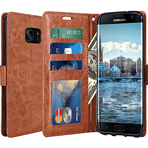 Galaxy S8 Plus Case, LK Luxury PU Leather Wallet Flip Protective Case Cover with Card Slots and Stand for Samsung Galaxy S8 Plus (Brown) Sales