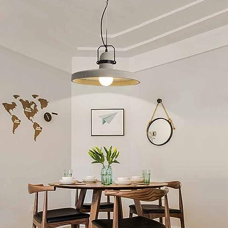 Nclon Moderna Creativo Lámpara de techo,E27 Enchufe Cemento ...