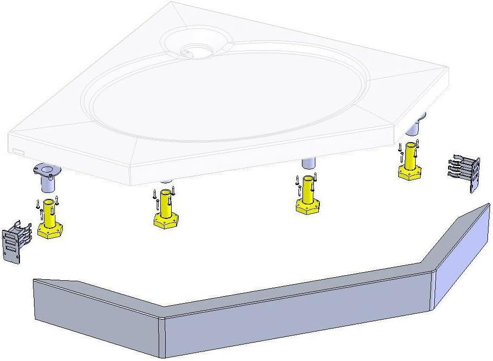 Coram Showers RKSTP90 - Kit Riser Para Uso Con Bandeja Slimline ...