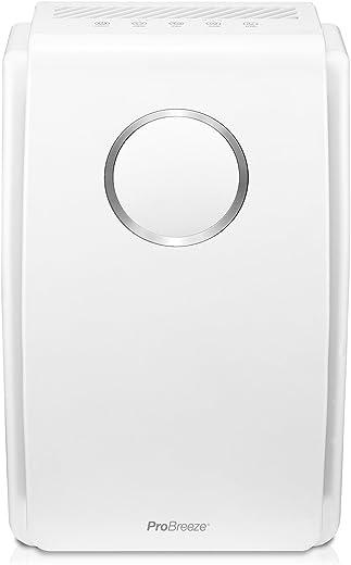 Pro Breeze Purificador de aire 5 en 1 con pre-filtro, filtro HEPA, filtro de carbón activado, catalizador frío y generador de iones negativos. Contra las alergias y los olores (CADR 218, 40 m²)