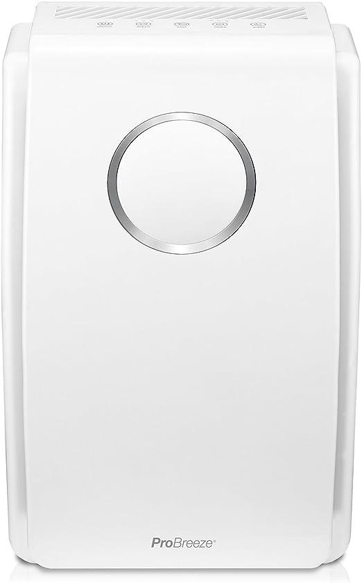 Pro Breeze Purificador de aire 5 en 1 con pre-filtro, filtro HEPA, filtro de carbón activado, catalizador frío y generador de iones negativos. Contra las alergias y los olores (CADR 218, 40